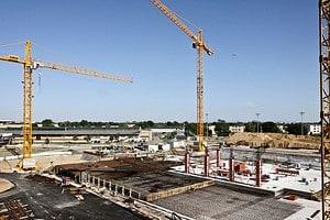 Cranes Building Site