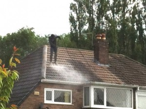 roofer jet wash