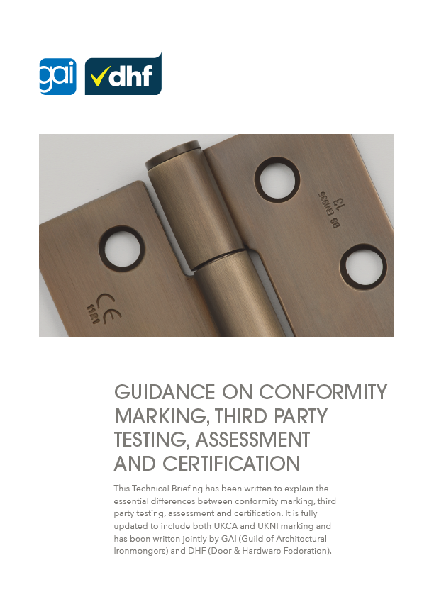 New guide to conformity marking and third-party testing published by GAI and DHF