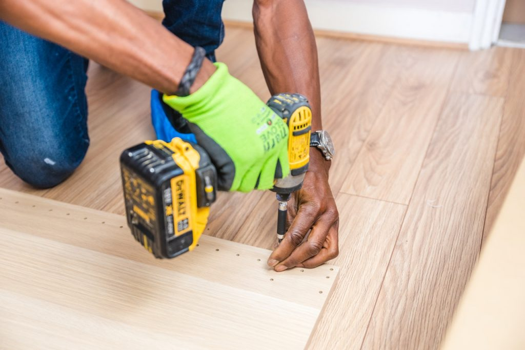 Contemporary Skirting Board Being Assembled